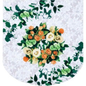 Comolife Flower marble toilet lid cover , easy to use