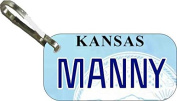 Personalised Kansas 2007 Zipper Pull State Licence Plate Replica