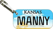 Personalised Kansas 2002 Zipper Pull State Licence Plate Replica