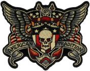 American Tradition Wings & Skull 13cm Embroidered Patch NOVJBP066