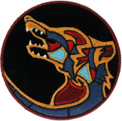 Native Wolf Symbol 8.9cm Embroidered Patch NOVPA8920