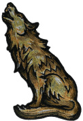 Howling Wolf 10cm Embroidered Patch NOVPA8940