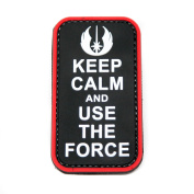 Keep Calm And Use The Force Jedi Star Wars PVC Rubber Morale Patch by NEO Tactical Gear Morale Patch