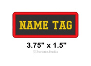 Custom Embroidered Name Tag Motorcycle Biker Sew on Patch 9.5cm x 3.8cm