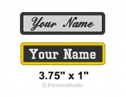Custom Embroidered Name Tag Sew on Patch Motorcycle Biker Patches 9.5cm x 2.5cm