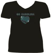 Rhinestone Carolina Football Go T Shirt SV OIAQ