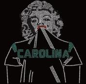 Carolina Football Beauty Rhinestone Iron on Transfer