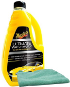 Meguiars Ultimate Wash & Wax (1420ml) Bundle with Microfiber Cloth