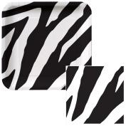 Zebra Print Dessert Plates & Napkins Party Kit for 8