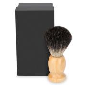 Pure Badger Shaving Brush, SKM Professional Wood Handle Badger Shaving Brush Barber Facial Cleansing Tool