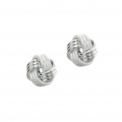 MCS Jewellery 14 Karat Rose, White OR Yellow Gold Love Knot Earrings