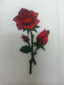 Valentine Red Rose Bath Hand Fingertip Towel Applique White