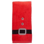St. Nicholas Square Christmas Hand Towel Santa Belt Suit