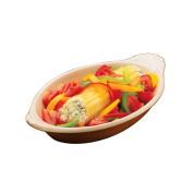 Hall China 527-BR Brown 240ml Welsh Rarebit Dish - 24 / CS