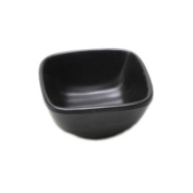 3 PCS Japanese Style Melamine Chafing Dish Soy Sauce Dish Dipping Bowls Side Dishes Plate Canape Plate Black-A17