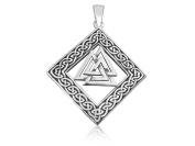 925 Sterling Silver Celtic Infinity Knots Knotwork Nordic Norse Valknut Viking Odin Pendant