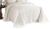 King Charles 13989BEDDKNGIVY Matelasse Bedspread,Ivory,King