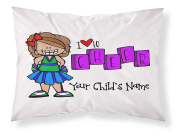"""Customizable, """"Cheerleader"""" Pillowcase. Personalised With Your Child's Name - Perfect Gift For Little Girls Of All Ages! Brunette"""