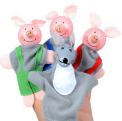 Baby Toy, Hatop 4PCS Three Little Pigs And Wolf Finger Puppets Hand Puppets Christmas Gifts