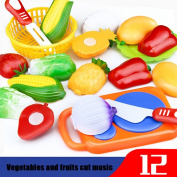 Baby Toy, Hatop 12PC Cutting Fruit Vegetable Pretend Play Children Kid Educational Toy