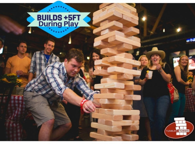 Giant JUMBO Tumbling Towers Game Blocks up to +1.5m & Includes Wooden Case