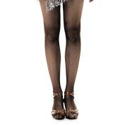 iMucci Black Tan Professional Women Latin Tights Fishnet Stockings Girl Tights for Samba Tango Dancing Pantynose Brown Collants