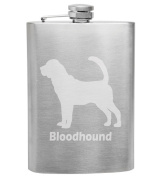 Bloodhound Breed Love 240ml Stainless Steel Flask - Hand Etched - Made in the USA, Great for gifts
