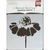 Donna Downey Signature Stencils 22cm x 22cm -Cone Flower