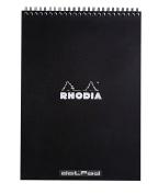 Rhodia Wirebound Pad 8.25X11.75 Black Dot