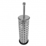 Polished Stainless Steel Toilet Brush and Holder