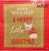 Molly & Rex Cocktail Beverage Paper Napkins 40 ct ~ Merry Little Frenchie 66124