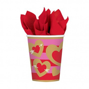Amscan International Heart Of Gold Paper Party Cups x 8