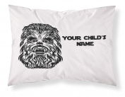 Customizable, Starwars Themed Pillowcase, Featuring CHEWBACCA! Personalised With Your Child's Name - Perfect Gift For Boys Of All Ages!