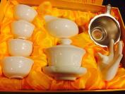 Music City Tea Gaiwan Tea Set Pure White Tea Set With Gift Box  .