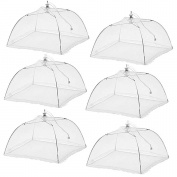 (6 Pack)Esfun Large Pop-Up Mesh Screen Food Cover Tent Umbrella, 43cm , Reusable and Collapsible Outdoor Picnic Food Covers Mesh, Food Cover Net Keep Out Flies, Bugs, Mosquitoes