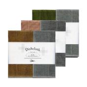 Nawrap Binchotan Charcoal Dishcloths, Naturally Antibacterial, Set of 3 - Tea Brown, Pink & Moss Green