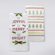 St. Nicholas Square Holiday Cheer Be Joyful, Be Merry, Be Bright Kitchen Towel 2-pk