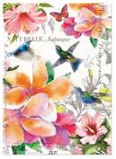 PARADISE Cotton Kitchen Towel by Michel Design Works - Flowers, Hummingbirds