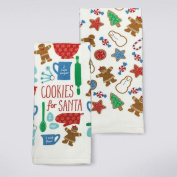 St. Nicholas Square Holiday Cheer Cookies for Santa Kitchen Towel 2-pk