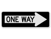 """One Way"" Arrow Right Sign - 90cm x 30cm"