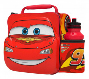 CARS Kids Children 3D Lunch Box Bag With Sport Water Bottle