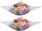 1pcs Toy Hammock - Organise Stuffed Animals or Children's Toys with this Mesh Hammock. Excellent for Nursery Storage, Toys Games Organisation & Hanging Organisers