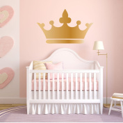 Princess Wall Decals - Princess Crown Sticker for Girls Room, Kids Bedroom Decor