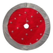 Holiday Living 140cm Red Cotton Traditional Christmas Tree Skirt