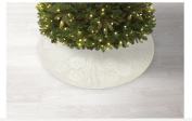 Jaclyn Smith Glimmer & Glisten 120cm Lace Doilies Tree Skirt