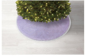Jaclyn Smith Winter Wishes 130cm Lavender & Silver Tree Skirt