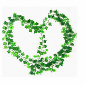 GOOTRADES 12 Strands Artificial Ivy Leaf Garland Plants Vine Fake Foliage Flowers Home Decor