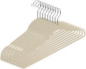 Premium Velvet Hangers (Pack of 50) Heavy Duty - Non Slip - Velvet Suit Hangers - Ivory - by Utopia Home