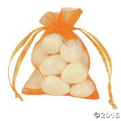 Mini Pumpkin Drawstring Bags