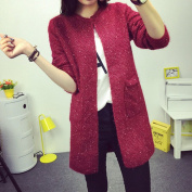 Coper Fashion Autumn Winter Women Long Cardigan Sweater With Knitted